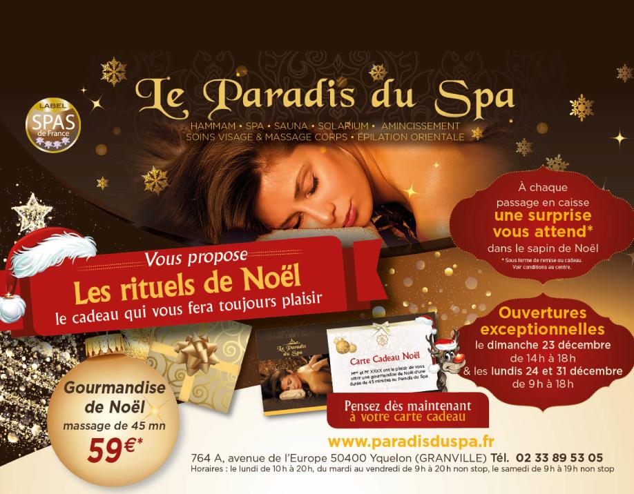 découvrez les offres de Noël du Paradis du Spa