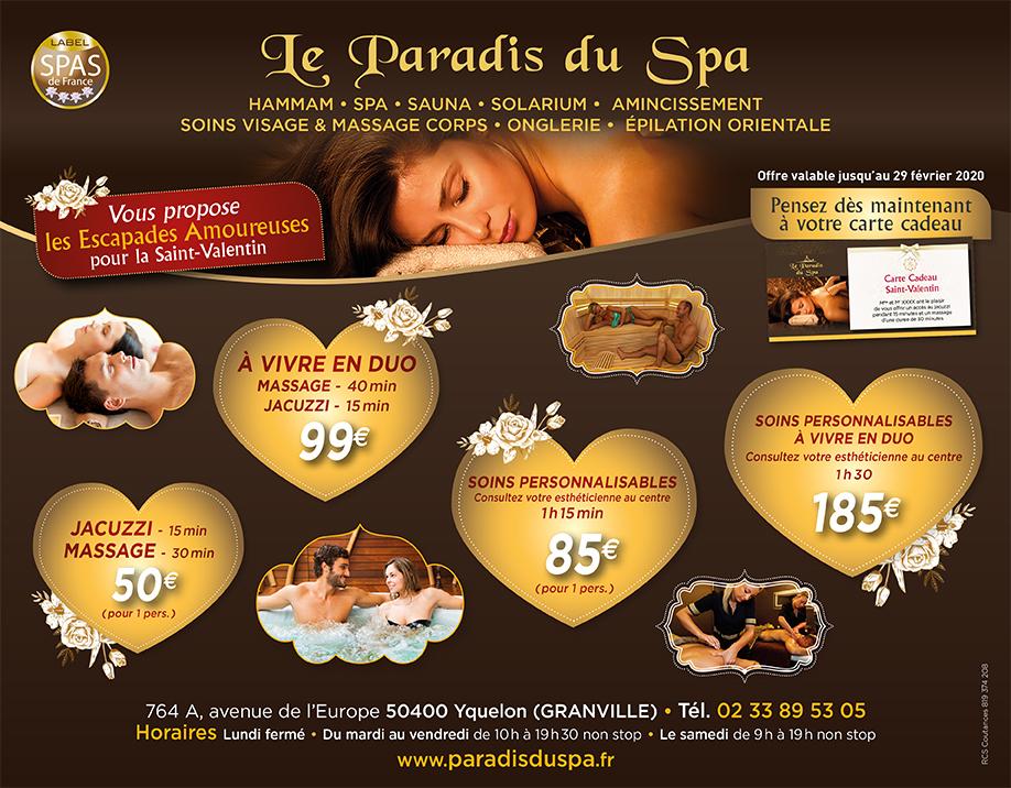 Offres Saint Valentin-Paradis du spa